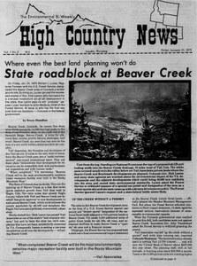 State roadblock at Beaver Creek