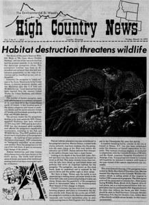 Habitat destruction threatens wildlife