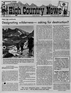 Designating wilderness -- asking for destruction?