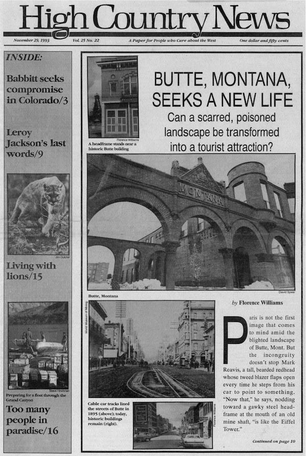 1993: Butte, Montana, seeks a new life