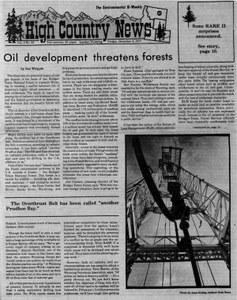 Oil development threatens forests