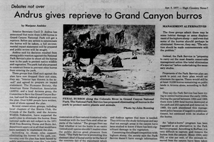 Andrus gives reprieve to Grand Canyon burros