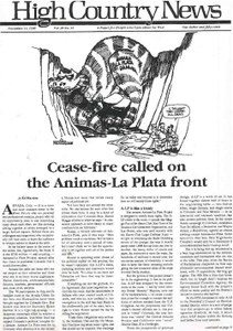 Cease-fire called on the Animas-La Plata front