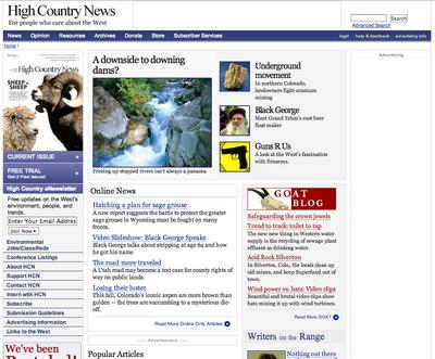 HCN website in 2007