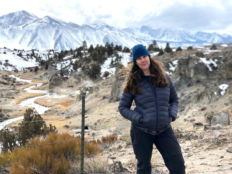 Jennifer Sahn in the Eastern Sierra.