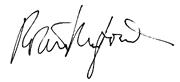 Robert Redford signature