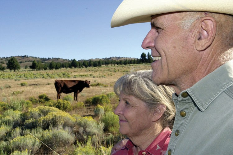 Doc and Connie Hatfield  at their High Desert Ranch in Brothers, Oregon.